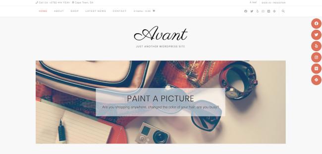 avant free wordpress blog theme