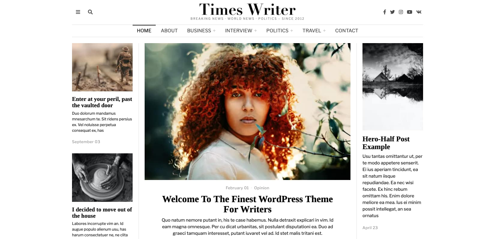 demo of the wordpress theme for adsense the fox