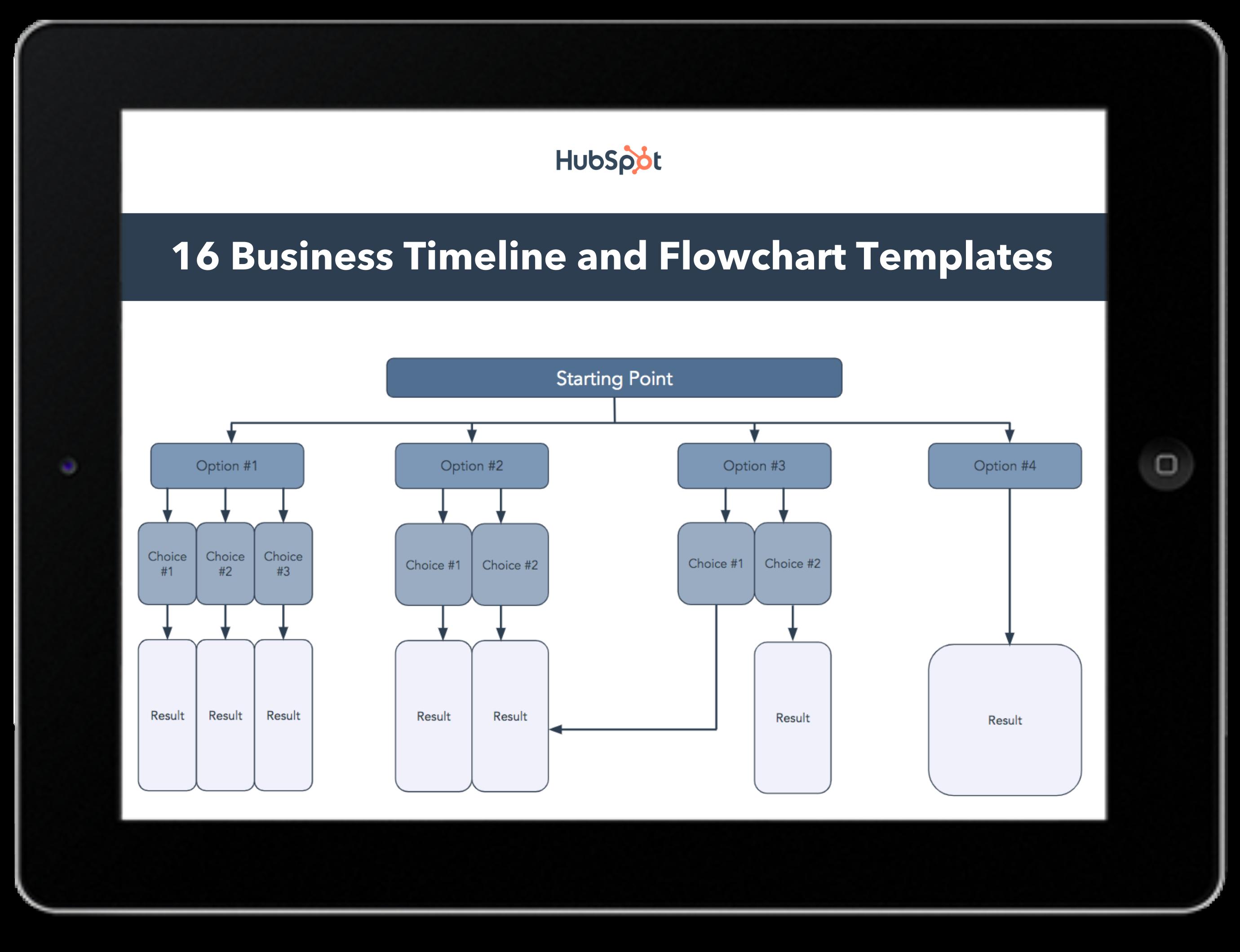 16 Timeline & Flowchart Templates