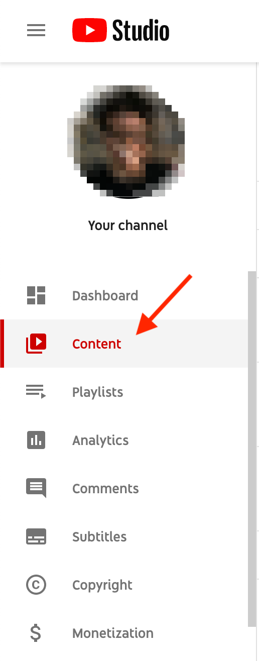 youtube studio editor sidebar dashboard