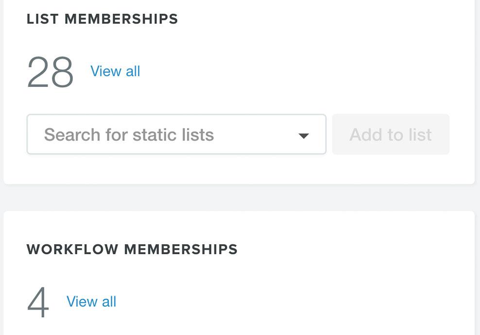 contact record memberships