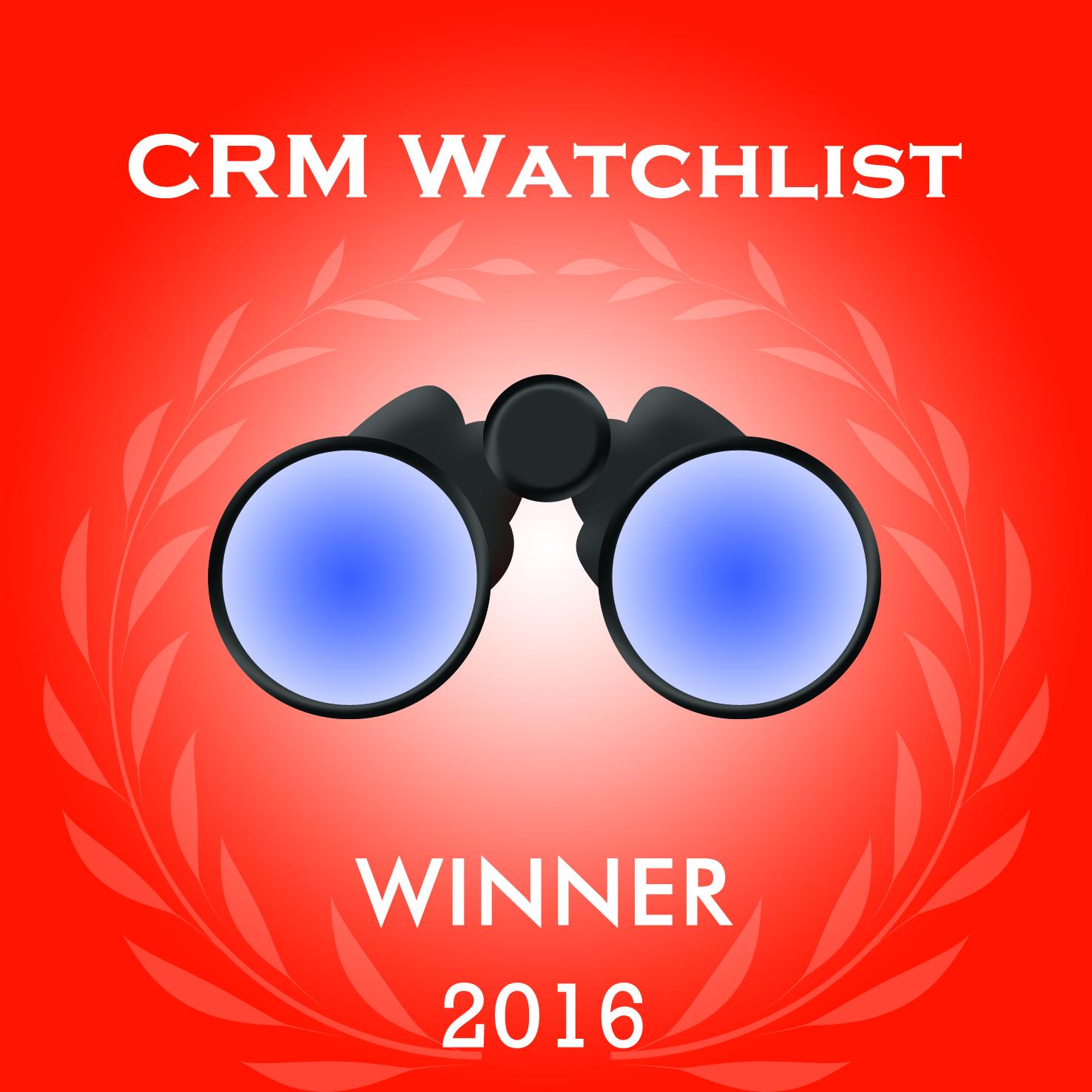 HubSpot Named Winner of 2016 CRM Watchlist