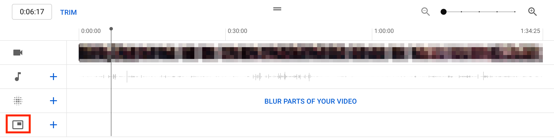 youtube studio video editor timeline panel end screen icon