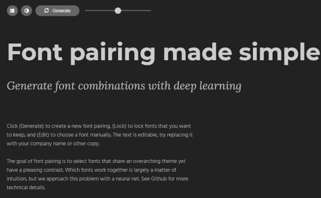 fontjoy design tool for font pairings