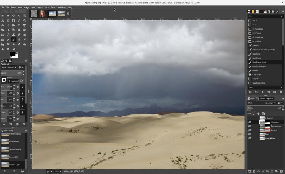 GIMP web design software
