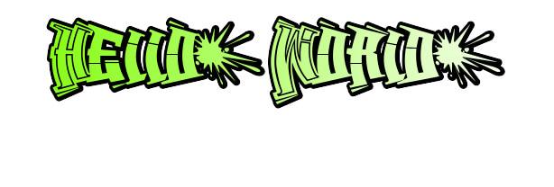 Graffwriters font generator example