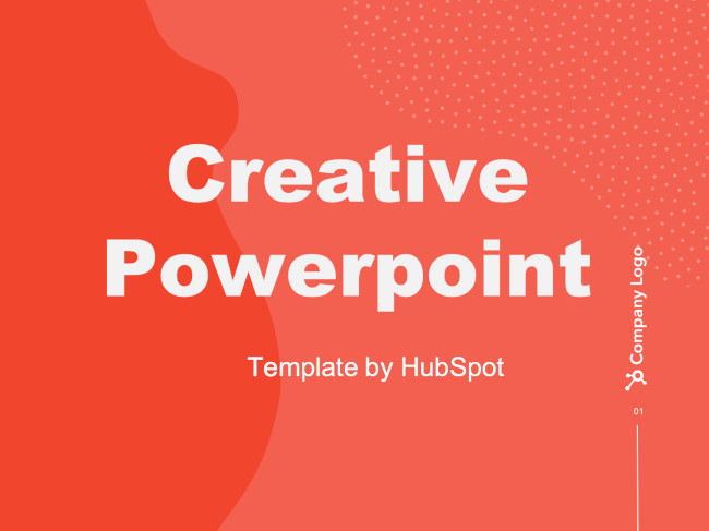 example of one of hubspot's free powerpoint templates for online slide design