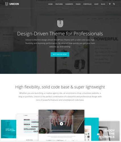 Unicorn WordPress theme for Digital Agency