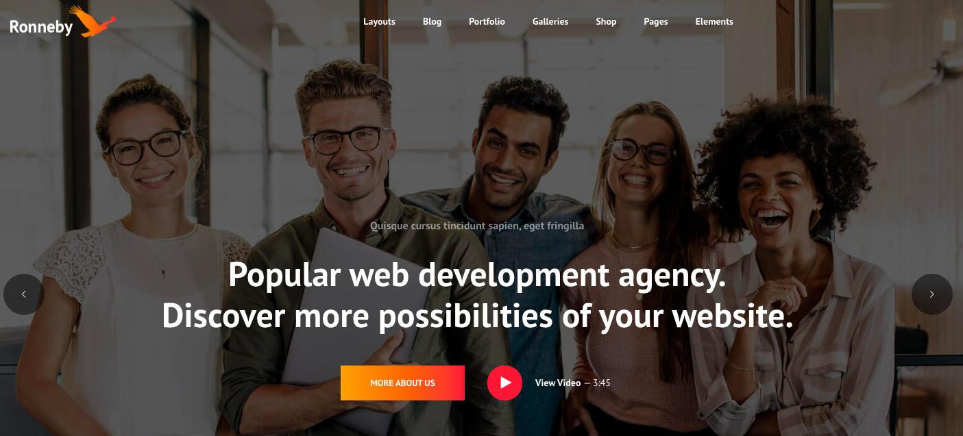 Ronneby WordPress theme