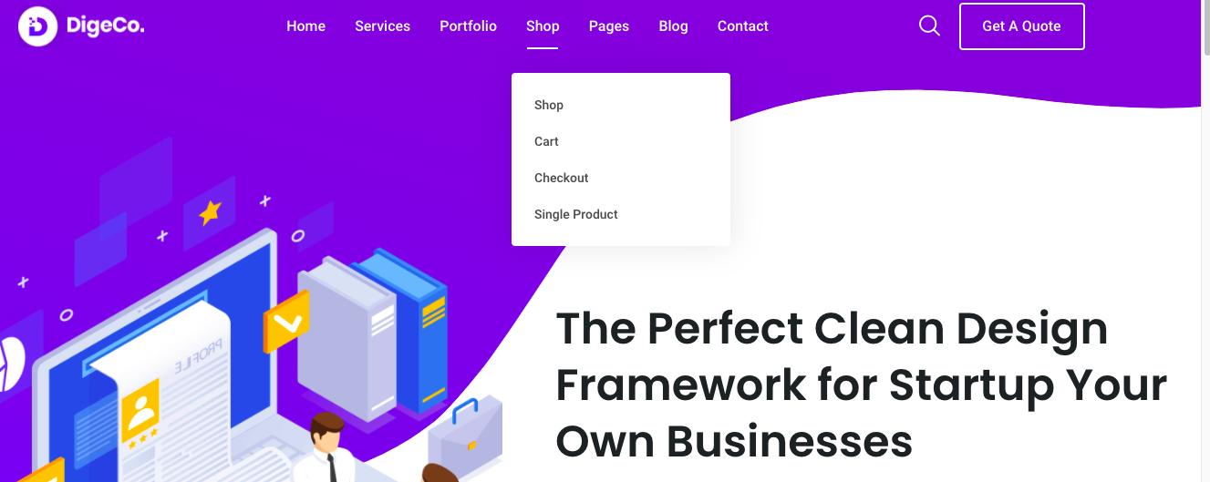 Digeco Wordpress theme for digital agencies