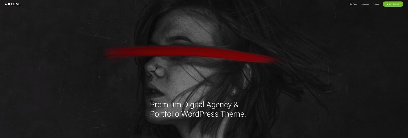 Artem digital agency wordpress theme