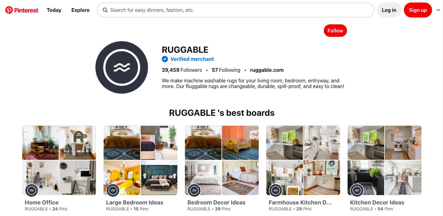 Ruggable Pinterest Board