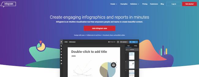 infogram design tool for interactive infographics