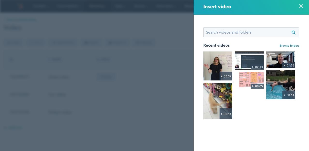 insert video interface screenshot