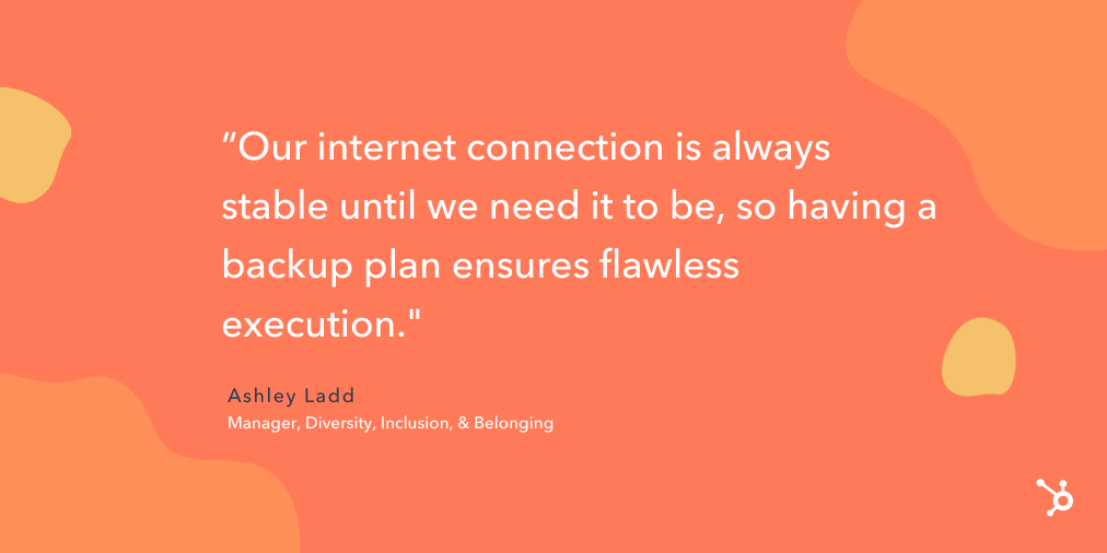 """quote snippet """"our internet connection is always stable until we need it to be, so having a backup plan ensures flawless execution."""""""