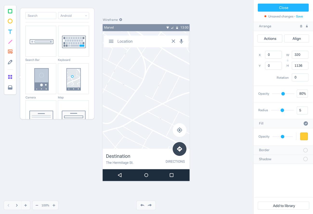 marvel-web-design-software