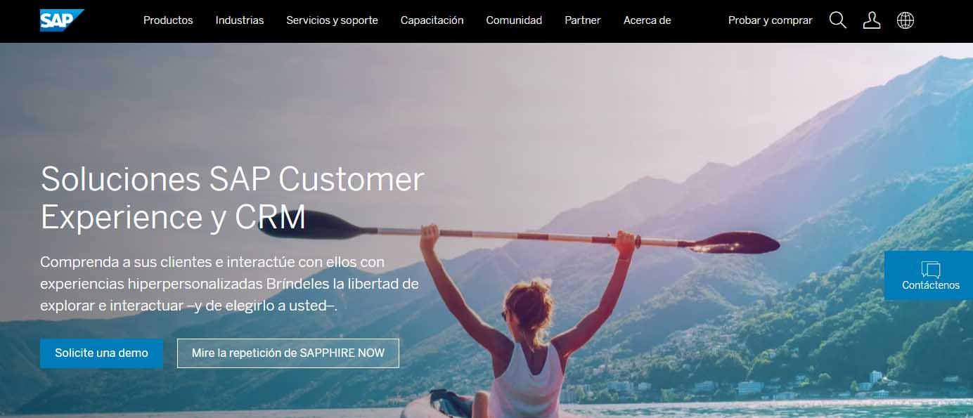Ejemplo de CRM cloud: SAP