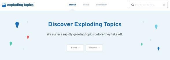 Programas de marketing de contenidos: Exploding topics