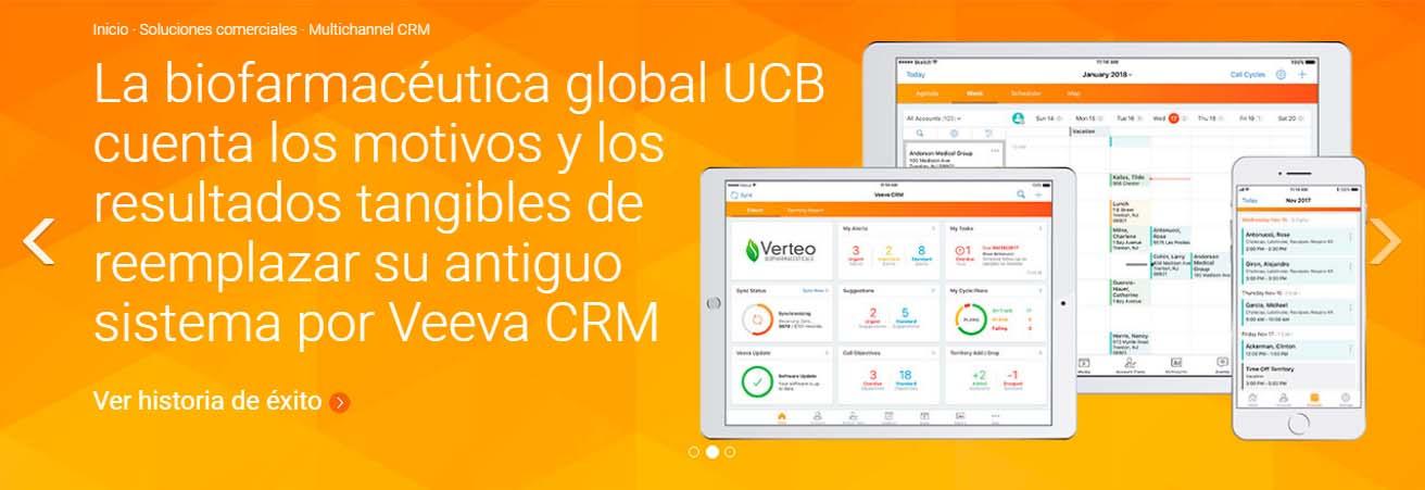 Ejemplo de CRM cloud: Veeva