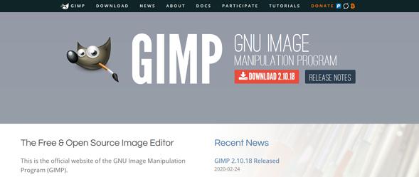 Programas de marketing de contenidos: GIMP