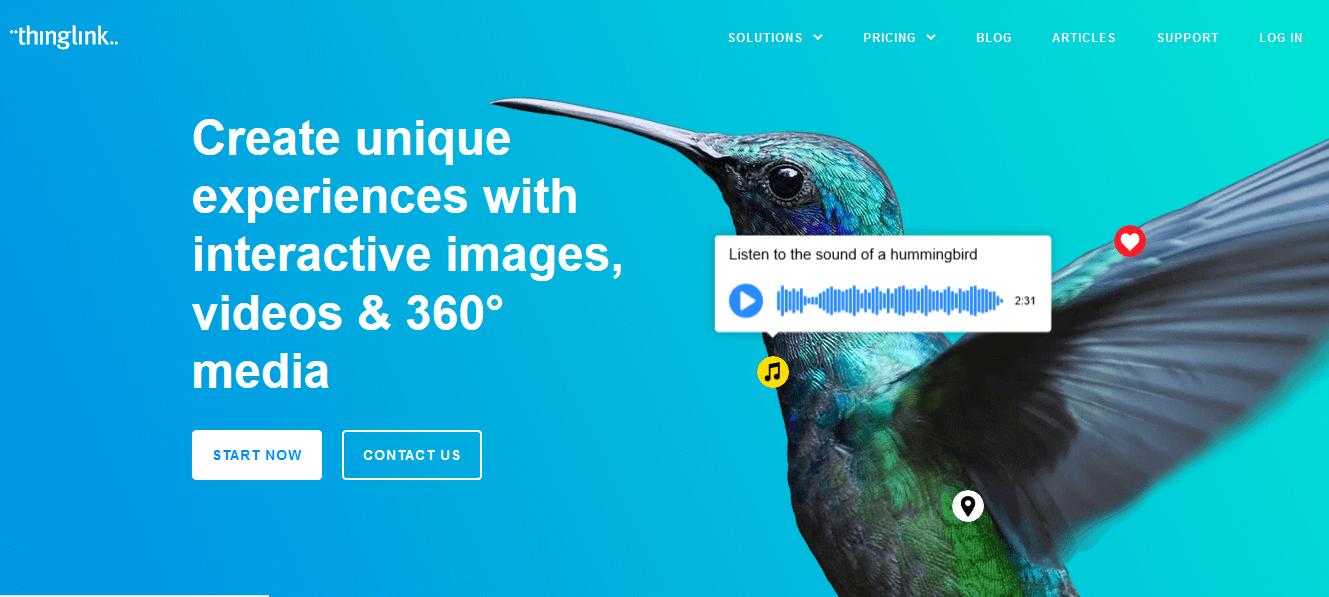 Programas de marketing de contenidos: Thinglink