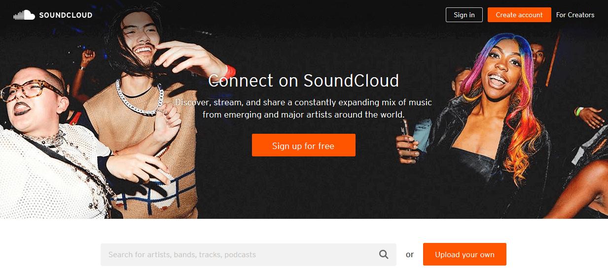 Programas de marketing de contenidos: Soundcloud
