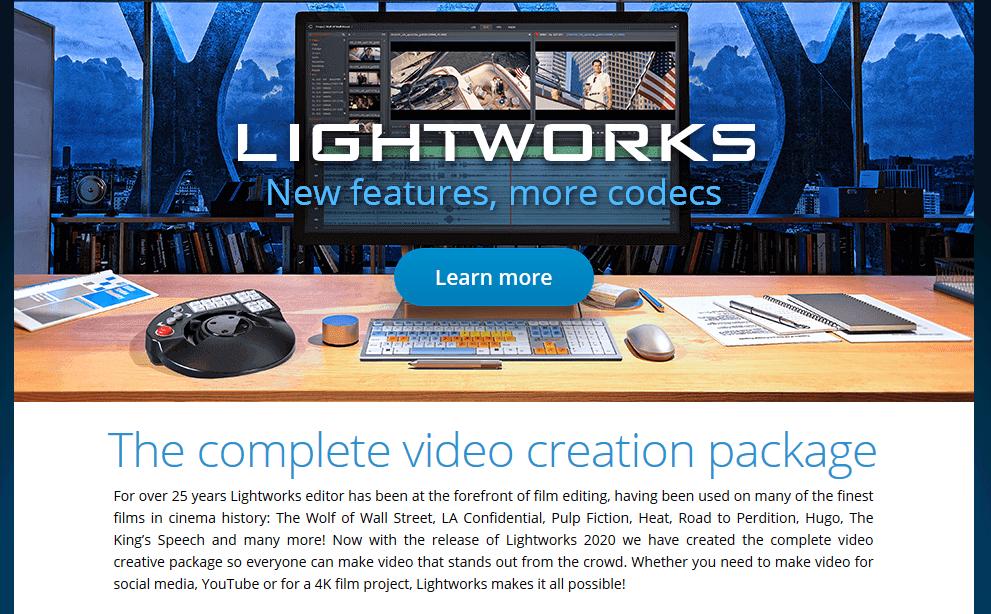 Programas de marketing de contenidos: Lightworks