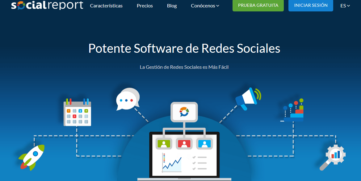 Programas de marketing de contenidos: Social Report