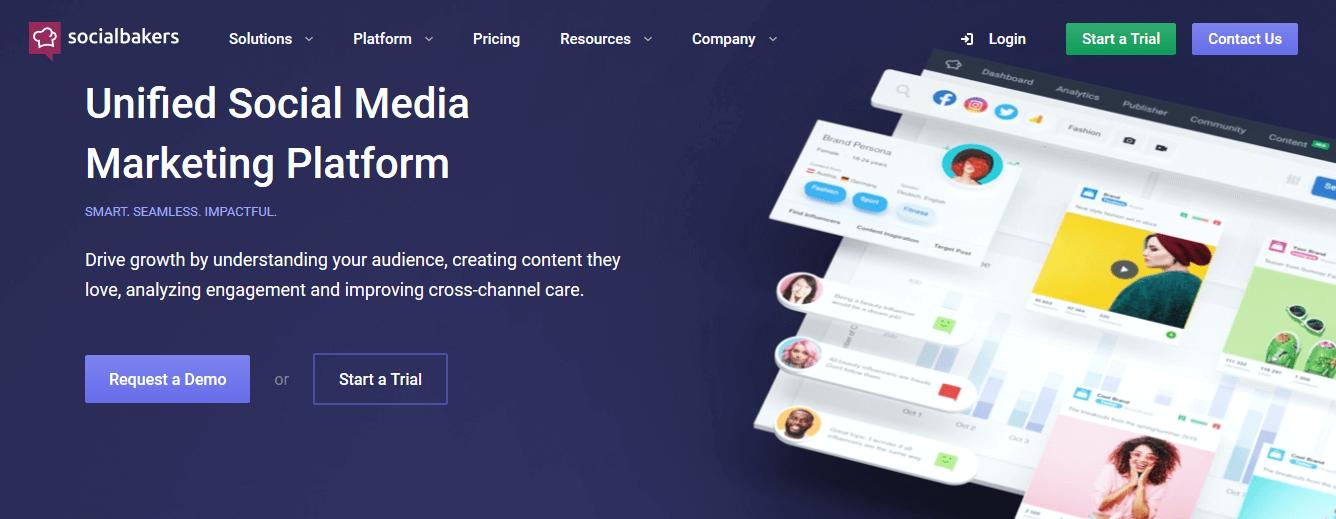 Programas de marketing de contenidos: Socialbakers