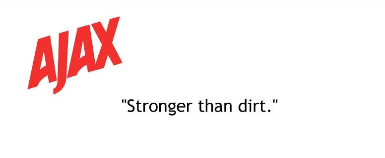 Ejemplo de slogans creativos: Ajax