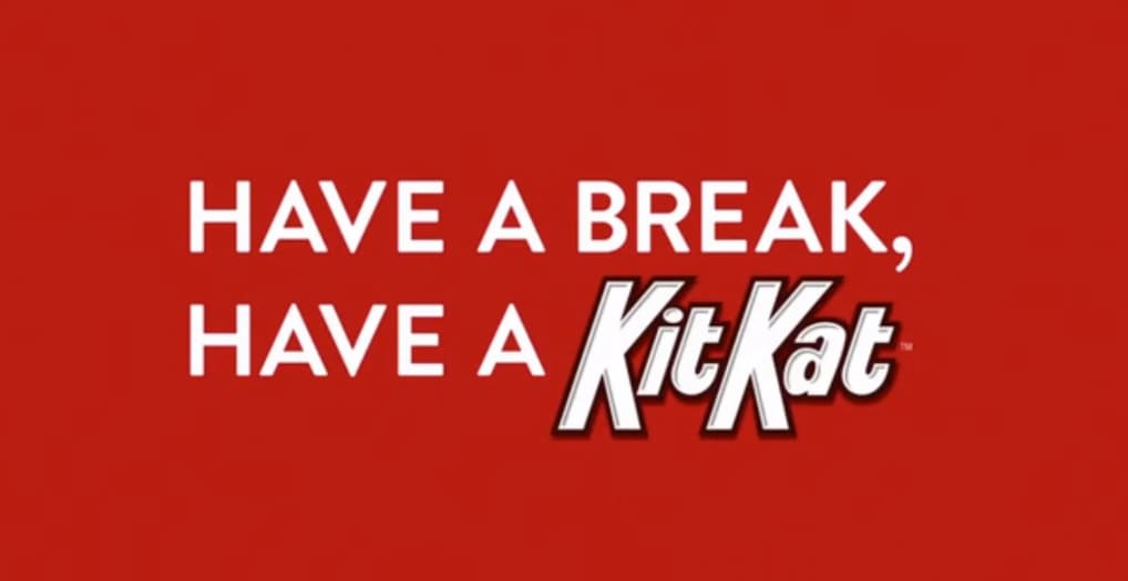 Ejemplo de slogans famosos: Kit Kat