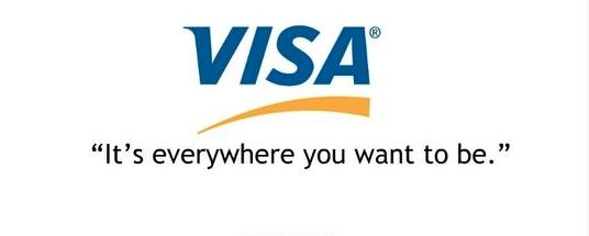 Ejemplo de slogans famosos: Visa