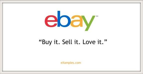 Ejemplo de slogans creativos: eBay