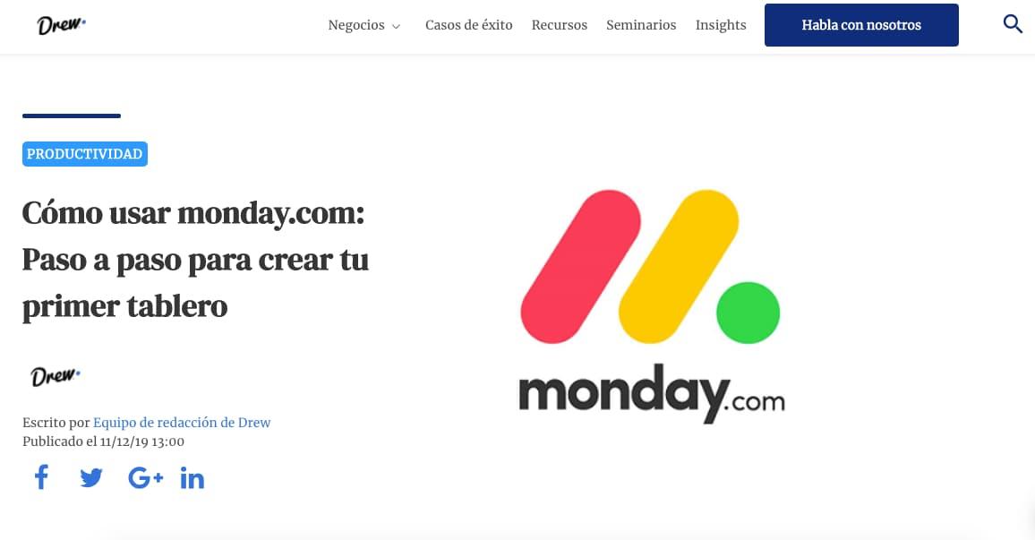 Ejemplo de co-marketing: Drew y Monday