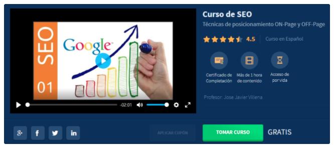 Curso de marketing digital: Curso de SEO de José Javier Villena