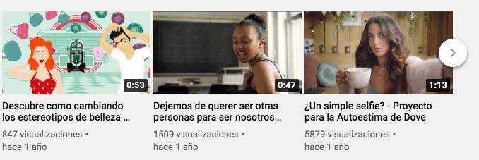 Ejemplo de storytelling en español: Dove en YouTube