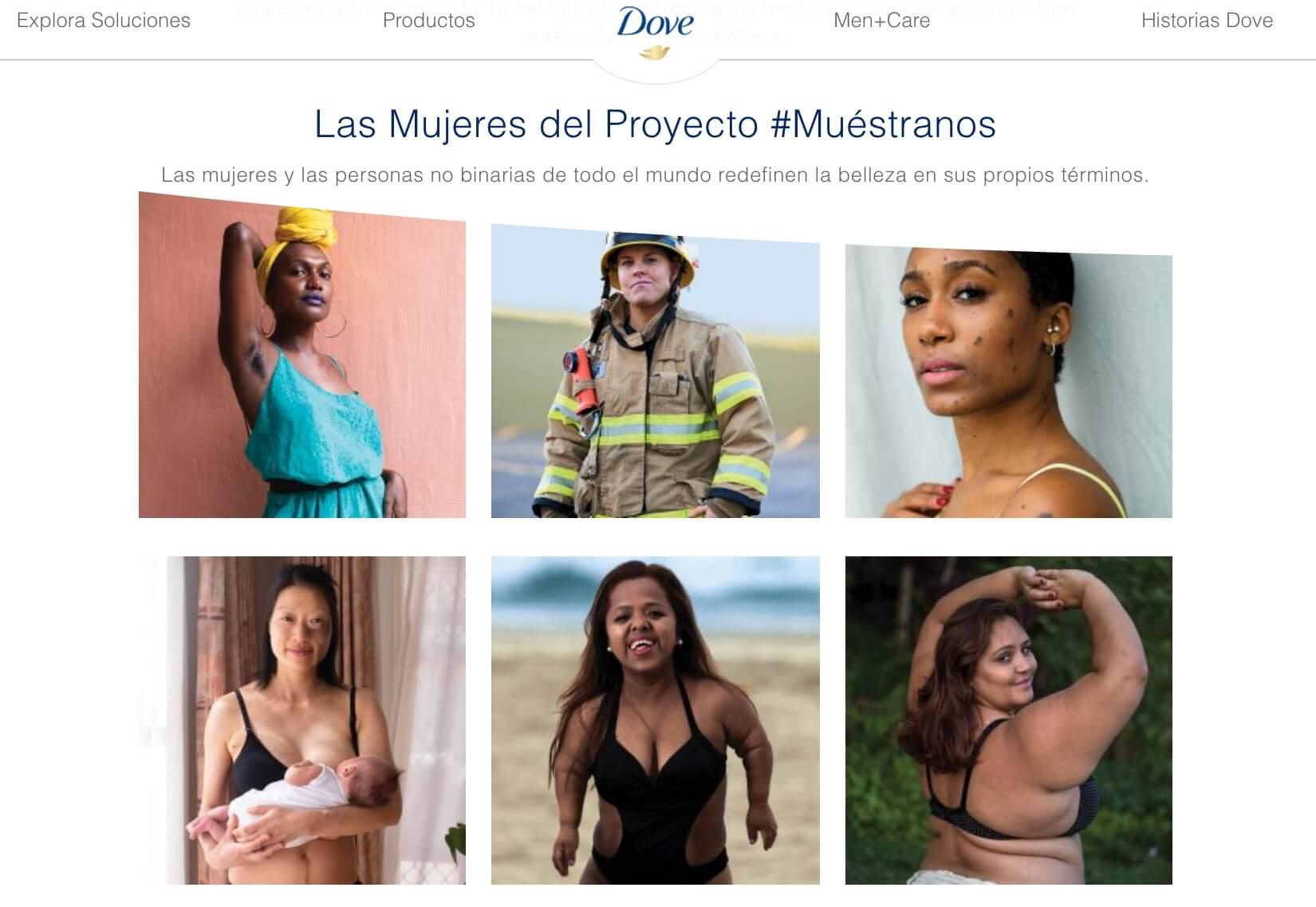 Ejemplo de estrategia de publicidad, Dove #Múestranos
