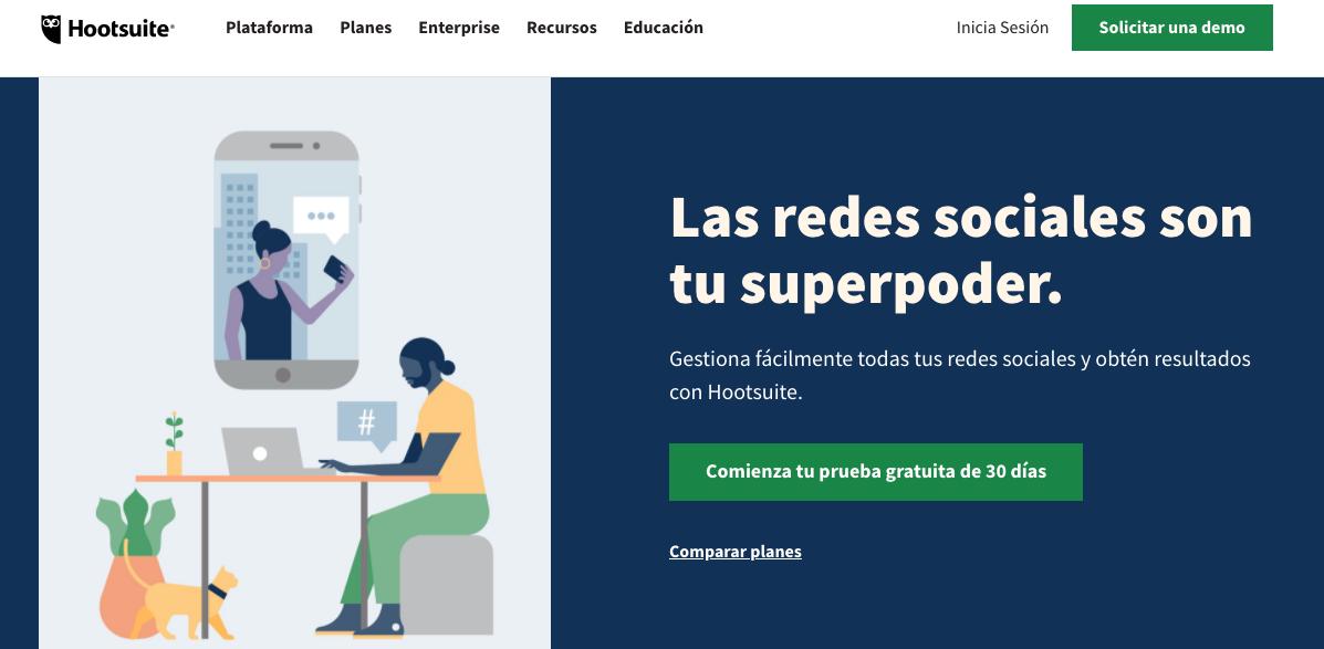 Herramientas que ayudan a satisfacer las expectativas del cliente: Hootsuite