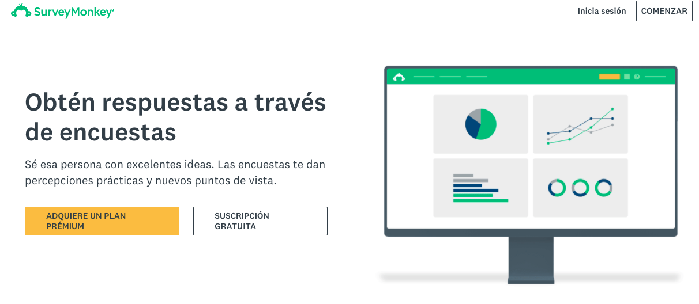 Herramientas que ayudan a satisfacer las expectativas del cliente: Survey Monkey