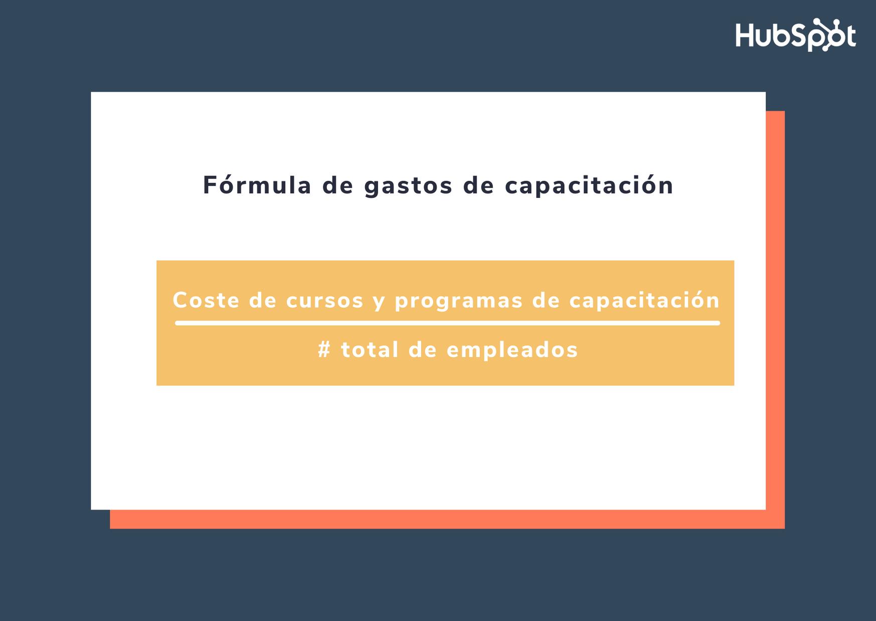 Fórmula para obtener los gastos de capacitación