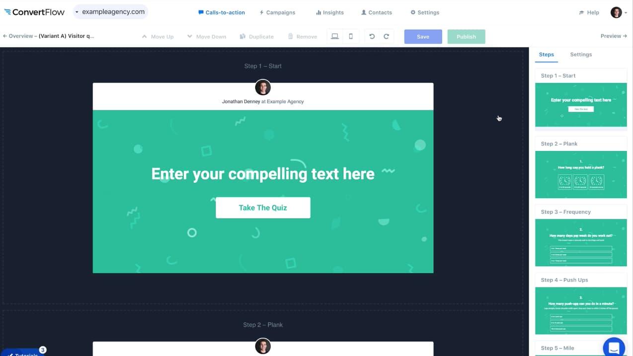ConvertFlow, plataforma para crear landing pages