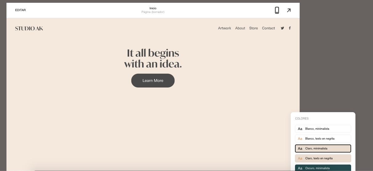 Herramientas para hacer una landing page efectiva: Squarespace