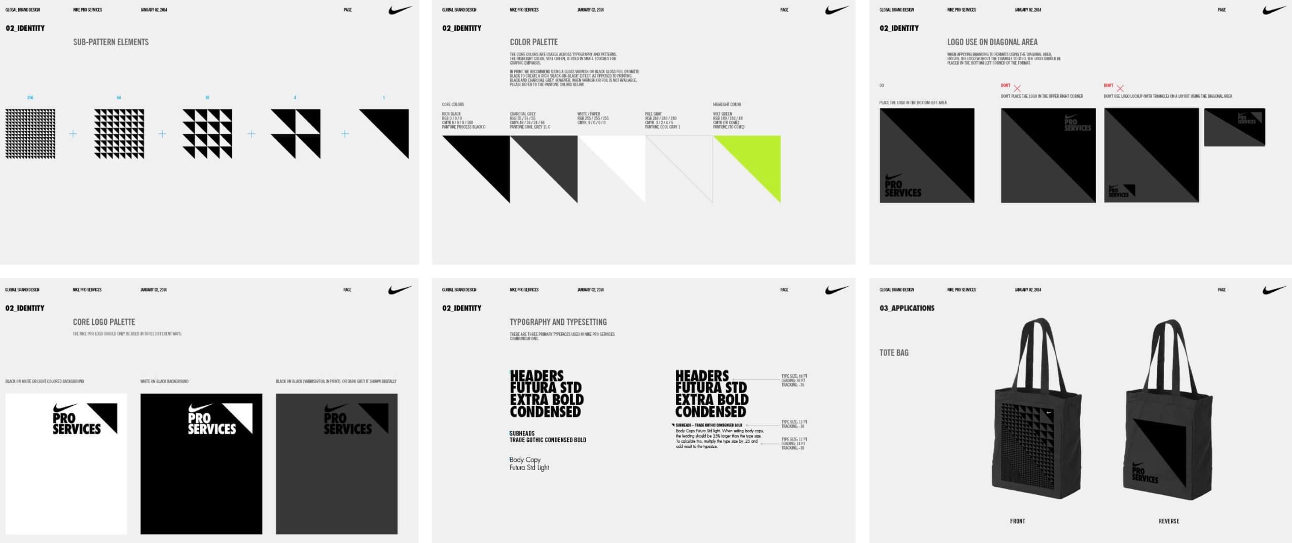 Ejemplo de identidad de marca: Nike