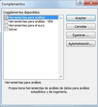 Cómo hacer un histograma en Excel: activa las herramientas para el análisis
