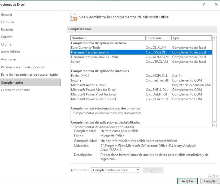 Cómo hacer un histograma paso a paso en Excel: verifica si cuentas con las herramientas de análisis