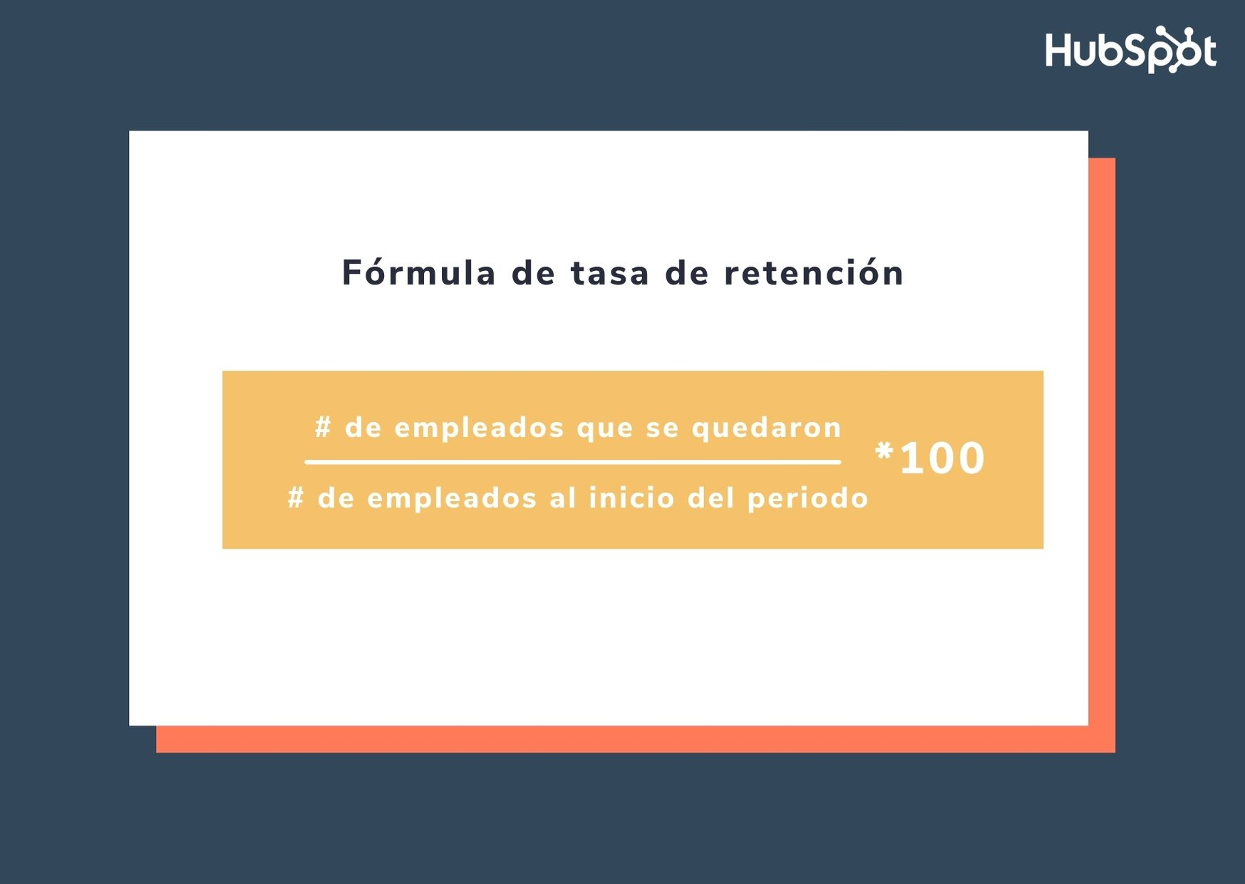 Fórmula de tasa de retención
