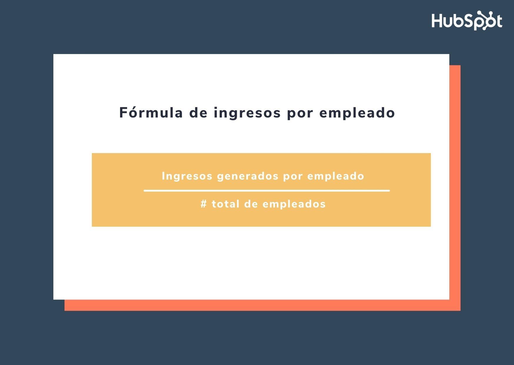 Fórmula de ingresos por empleado