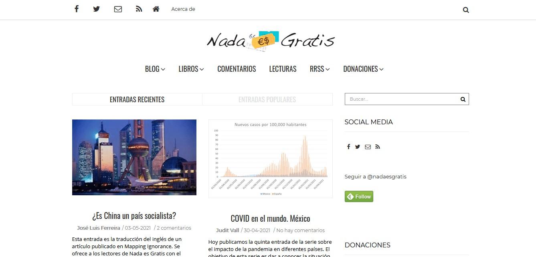 Nombres peculiares de blogs: Nada es gratis