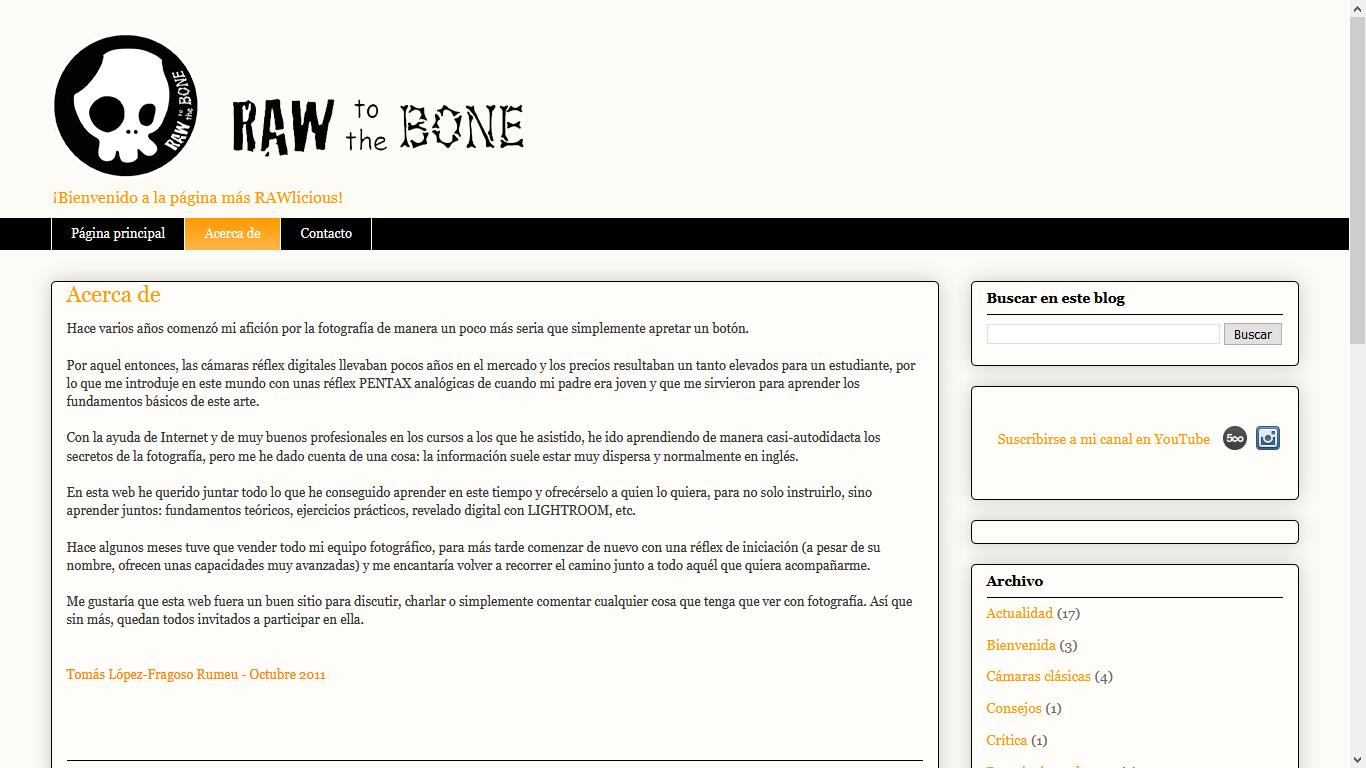 Nombres creativos de blogs: Raw to the bone