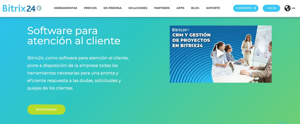 Software de asistencia al cliente: Bitrix24